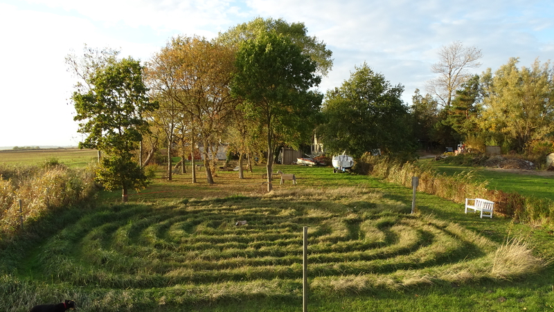 Ein Graslabyrinth ist kein Irrgarten